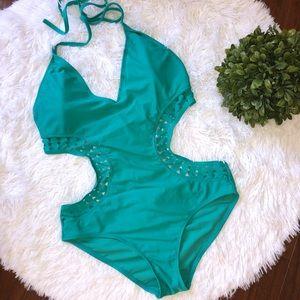 Apollo Swimwear Aqua One Piece Padded Swimsuit
